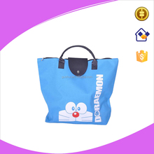 Blue color 600D oxford foldable shopping tote bag, new style cute foldable shopping bag