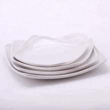 hotel use white plastic melamine square serving cold dish serving dinner <strong>plate</strong>