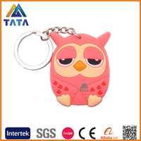 TATA Soft PVC Rubber 3D Owl Animal Design Keychain Soft Toys