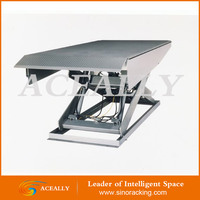 8t stationary hydraulic yard ramp/warehouse cargo loading unloading dock leveler