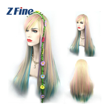 2017 new women fashion Hot sale prom supplies Charming Wigs Synthetic Hair Long Wavy