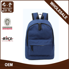 China factory wholesale simple multi-pocket waxed canvas backpack
