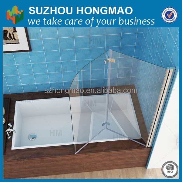 Luxury large adjustable rectangle shower bath with ABS shower tray