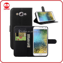 China Factory Wholesale Book Style Pouch Stand Wallet Leather Flip Case Cover Flip for Samsung Galaxy E7