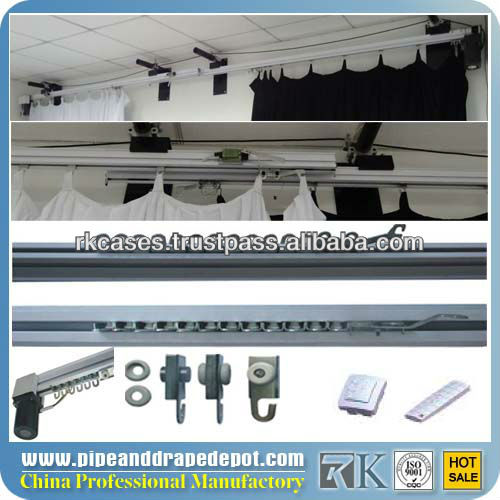 Curtain rods and rails, Aluminum electric curved motor 6-30m curtain track with reomte control