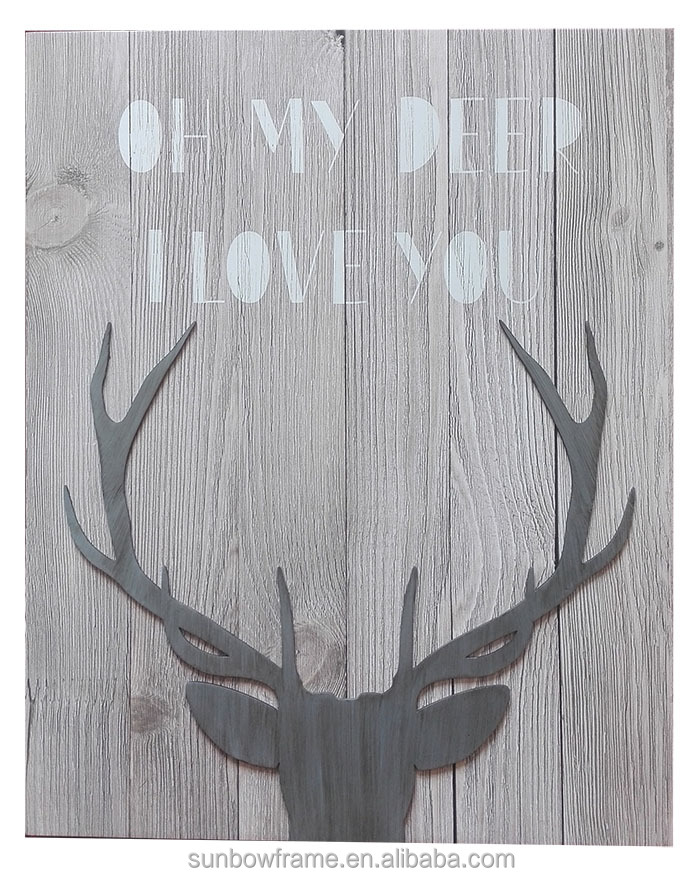New arrival animal vertion contemporary wood wall frame art
