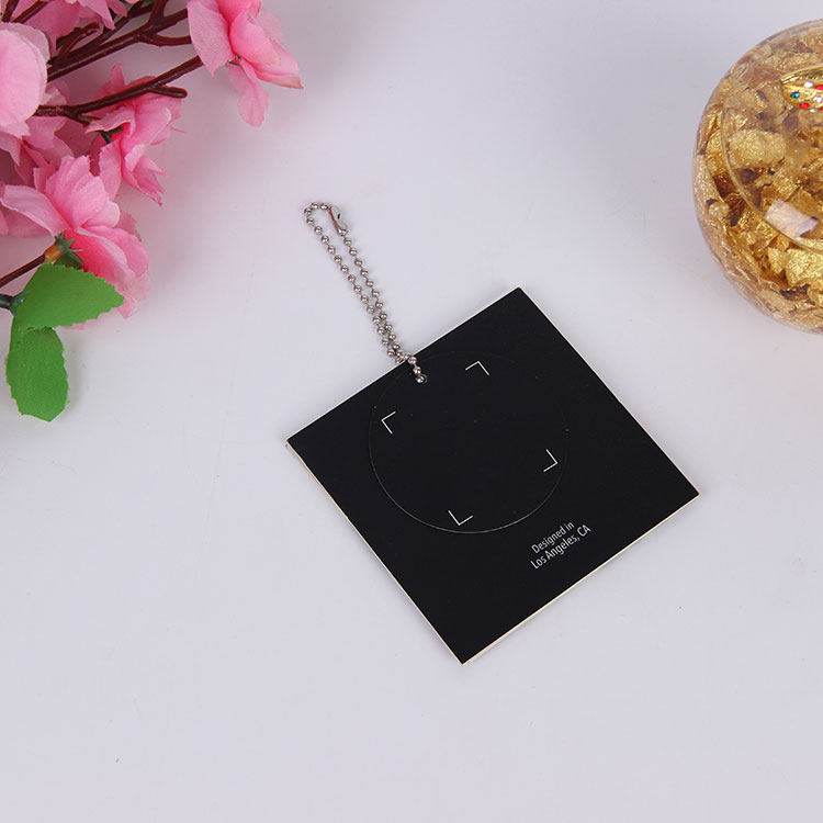 Custom logo uv printing garment black cardboard hang tags