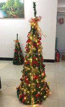 6FT Pop up Christmas tree decorative LED Christmas tree ornaments