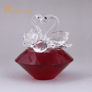 Wholesale Custom Different Color Base Clear Crystal Couple Swans,Animal Crystal Crafts