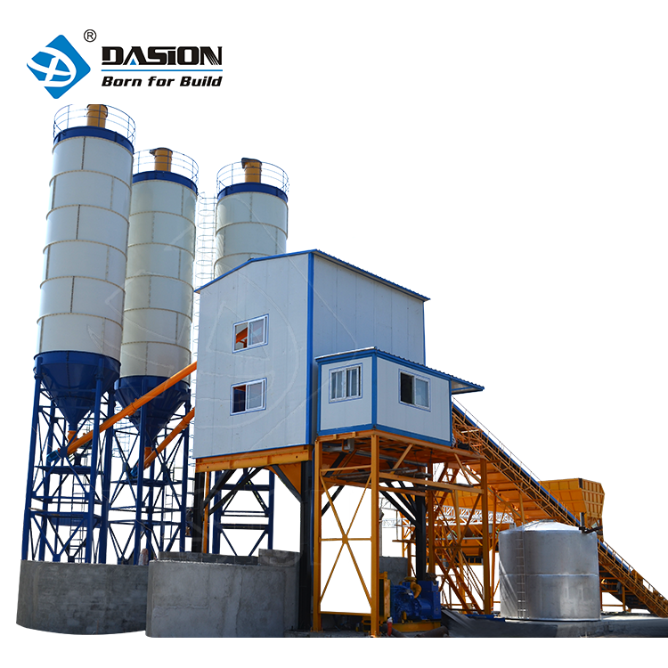 Belt type 150m3 large stationary precast beton mixing station automatic concrete batching plant price
