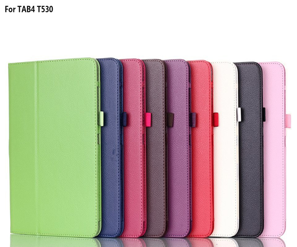 Case for Galaxy Tab4 10.1 Case - Stand PU leather + hard PC folding Case Cover for Galaxy 10.1 Tab4 T530 SM-T531 T535