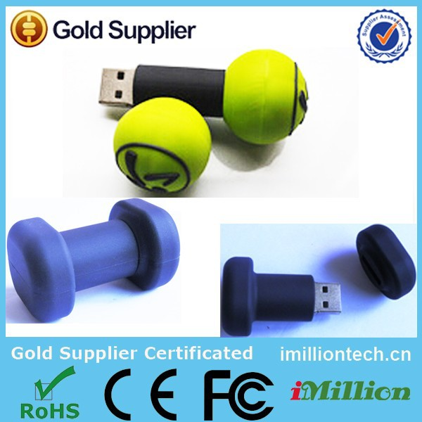 Dumbell usb pen drive,Fitness equipment promo gift usb,fitness centers promotional