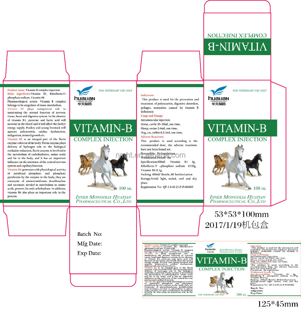 Vitamin B complex Injection/veterinary Injection/animal health products