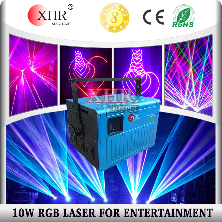 Professional 10000mw RGB Laser Powerful Outdoor Event 10w laser Light