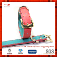 Wholesale hot selling PU pink Dog Collar