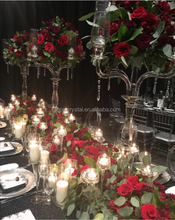 tall crystal candelabras for wedding decoration flower stand