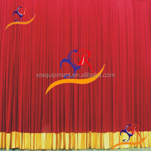 Special occasion high end effective Colorful stage curtain and drapes