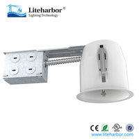 4 inch LED or compact fluorescent NON-IC remodel kitchen recessed lights