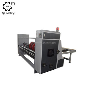 Chain feeding semi-auto carton slitting creasing corner-cutting slotter