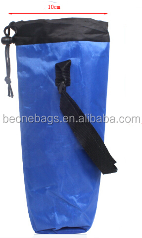 Customized Made Insulated Fitness Waterproof Water Bottle Thermal Drawstring Cooler Bag