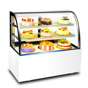 Marble Table Top Cake Display Cabinet /Glass Cake Showcase Fridges