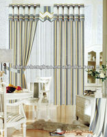 french stripe cafe curtains