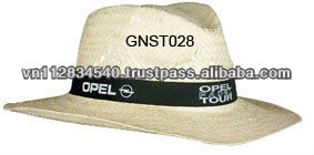 black ribbon imprint natural straw hat