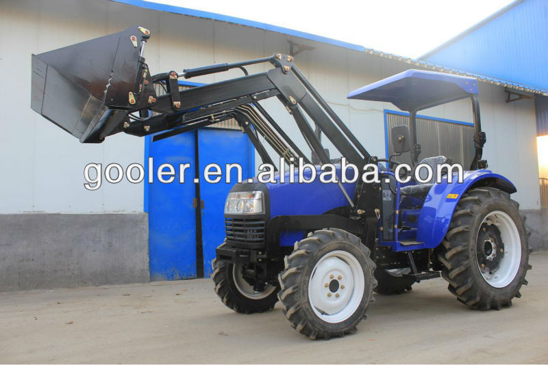 ENFLY DQ554 55HP 4WD farm tractor with front end loader, pallet fork, timber grapple, snow blade, backhoe