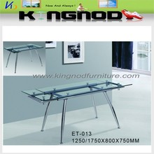 extendable glass dinning room furniture adjustable height dining table
