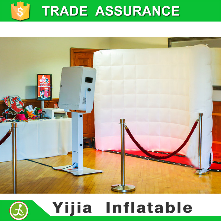 photobooth enclosure inflatable LED lights 3D wall