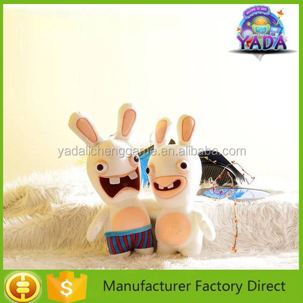 Mini stuffed and plush toy rabbit wholesale for claw crane machine