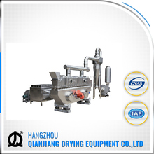 Vibrating fluid bed dryer for edible salt