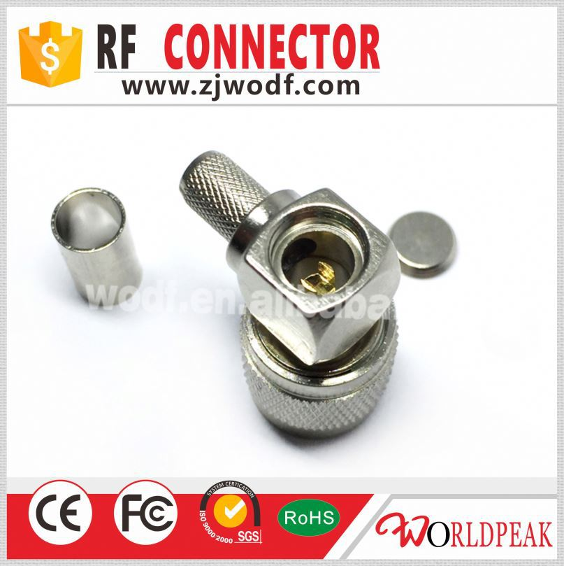 sata tnc crimp connector right angle round crimp terminal