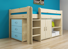 Hot selling children bed new design solid wood material kids bunk bed