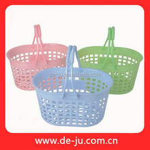 Plastic Colorful Wholesale Fruit Basket With Net Cover