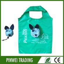 cartoon dog Shopping Bag folding polyester tote bagreusable folding tote bags