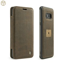 New design for Samsung Galaxy S8 leather case,mobile phone accessories, leather wallet case