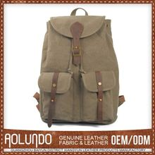 Hot New Products Custom-Made Canvas & Leather School Bag Making Material