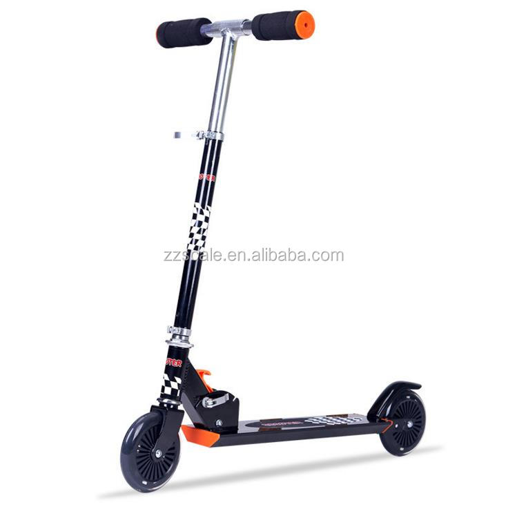 PU 125mm chinese manufacturers online large wheel kick scooter for big kids