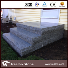 Outdoor Cheap Grey Granite Stairs Treads And Risers