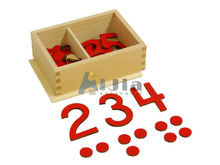Teaching Resources Montessori toy cut-out numeral and counters