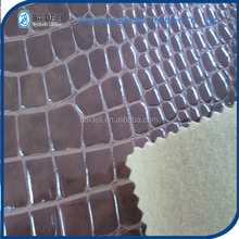 crocodile pattern multiple color pvc artificial leather for auto sofa upholstery