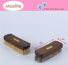 Genuine Horsehair Shoe Shine Brush,wood block brush