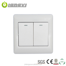 Wholesale Steel Frame 2 Gang 2 Way Light New Design Wall Switch 16A