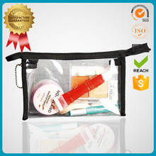 Stand up small transparent plastic package pvc vinyl bag pouch clear pvc zipper bag