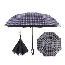 Superior quality auto open hand close lattice wedding reverse umbrella