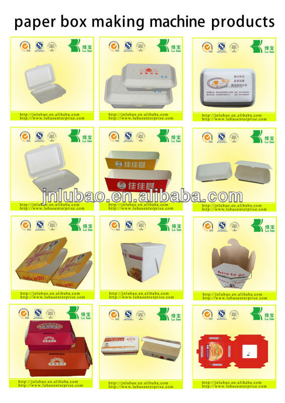automatic equipment of paper food container machine in with CE
