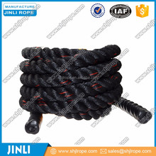 Black 1.5 inch* 30ft polyester battle exercise rope for sale