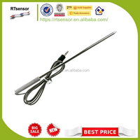 Customizable Accurate H702S 350DegC High Temperature NTC Thermistor 100K 3950 Food Temperature Probe With 3.5mm Stereo Plug