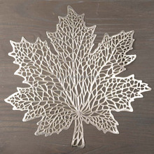 gold and silver pvc placemats/seashell/leaf shape home textiles table mat